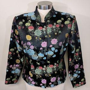 Jackets & Blazers - Mandarin Satin Evening Jacket